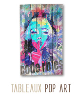 tableau palette pop art