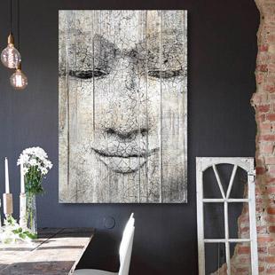 Tableau bois palette chinois p cheur d 39 asie for Tableau mural zen