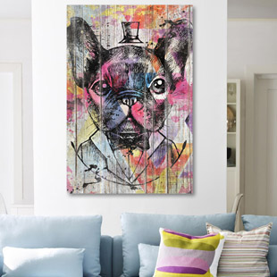 Bulldog francais Pop Art