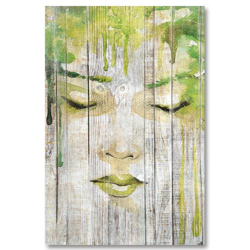 tableau bois palette r ve de femme esquisse peinture verte. Black Bedroom Furniture Sets. Home Design Ideas