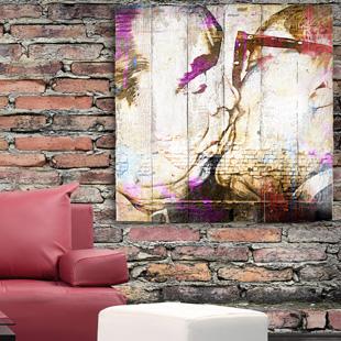 tableau bois palette street art. Black Bedroom Furniture Sets. Home Design Ideas