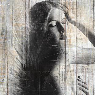 Tableau bois portrait - Tableau noir bois ...