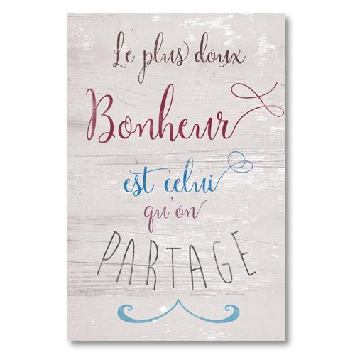 Tableau Deco Citation Bonheur Et Partage