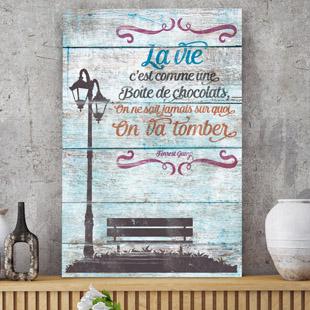 tableau bois palette citation. Black Bedroom Furniture Sets. Home Design Ideas