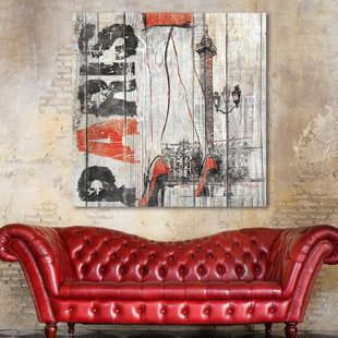 tableau bois palette esquisse whitney. Black Bedroom Furniture Sets. Home Design Ideas