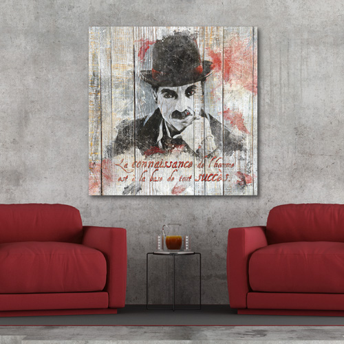 Tableau d coration mural citation charlin chaplin - Tableau mural decoratif ...