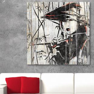tableau bois palette chinois bambou. Black Bedroom Furniture Sets. Home Design Ideas