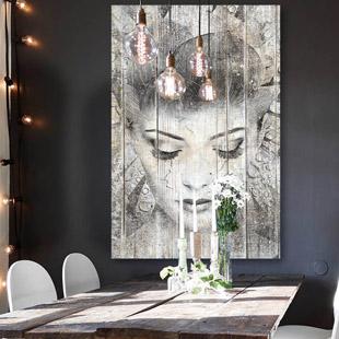 tableau bois portrait. Black Bedroom Furniture Sets. Home Design Ideas